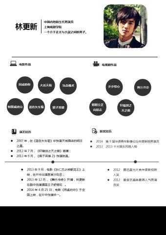 林更新 简历模版的缩略图