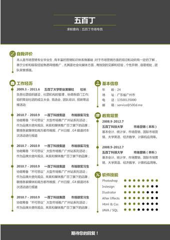 WORD简历模板的缩略图