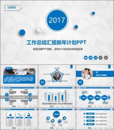 PPT0151 工作总结汇报新年计划PPT 45P