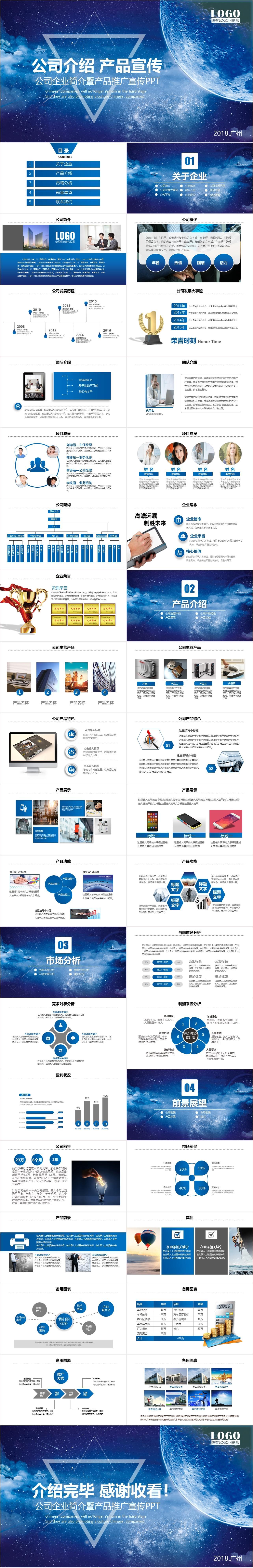 MD0048 公司企业简介暨产品推广宣传PPT模板