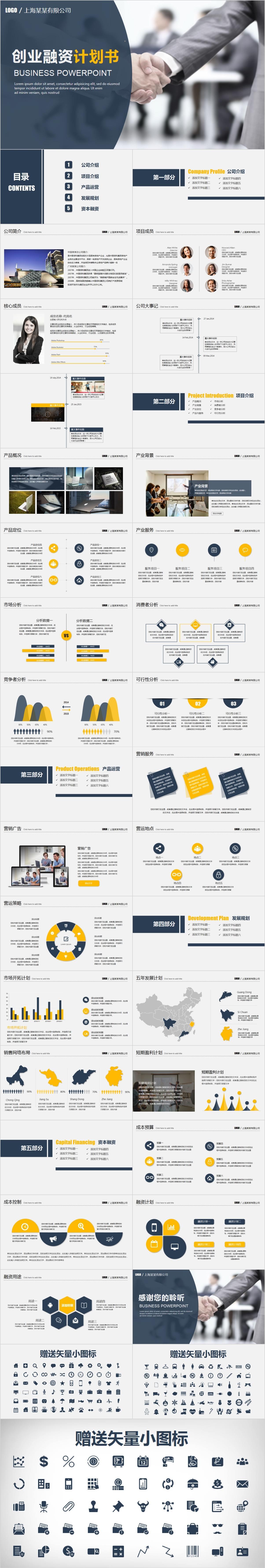 VC0013 创业公司融资PPT模板