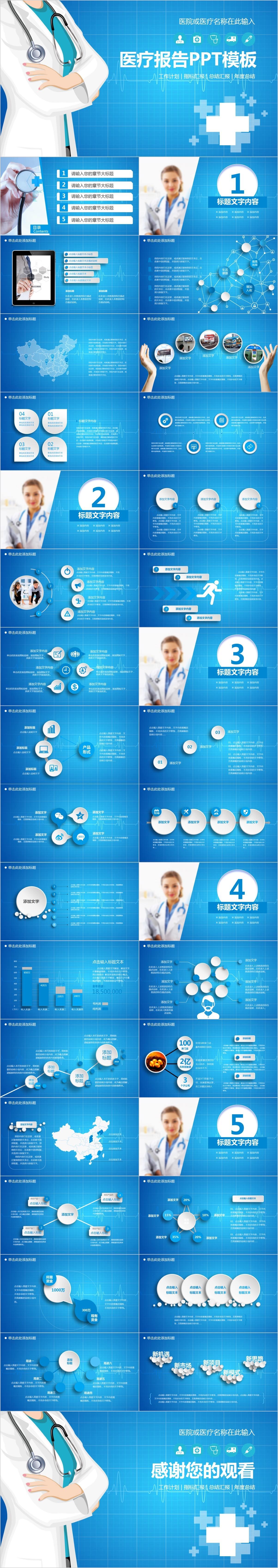 BC0136 医疗报告PPT模板